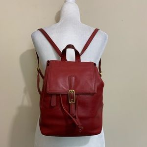 Coach Vintage Legacy Deep Red Leather Backpack